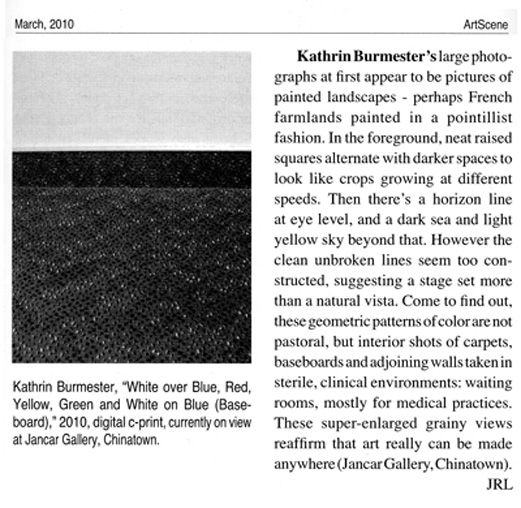Review - ArtScene - March 2010